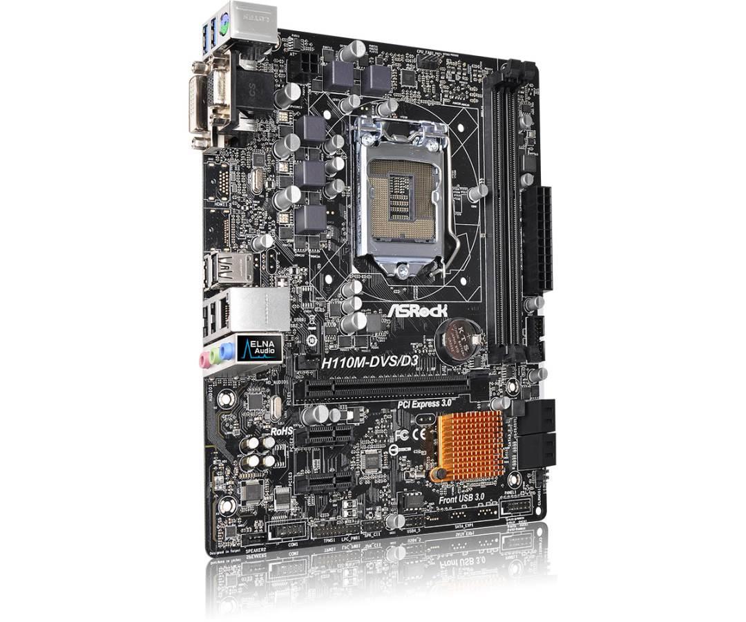 90-MXGZ80-A0UAYZ ASRock H110M-DVS / D3 Motherboard micro