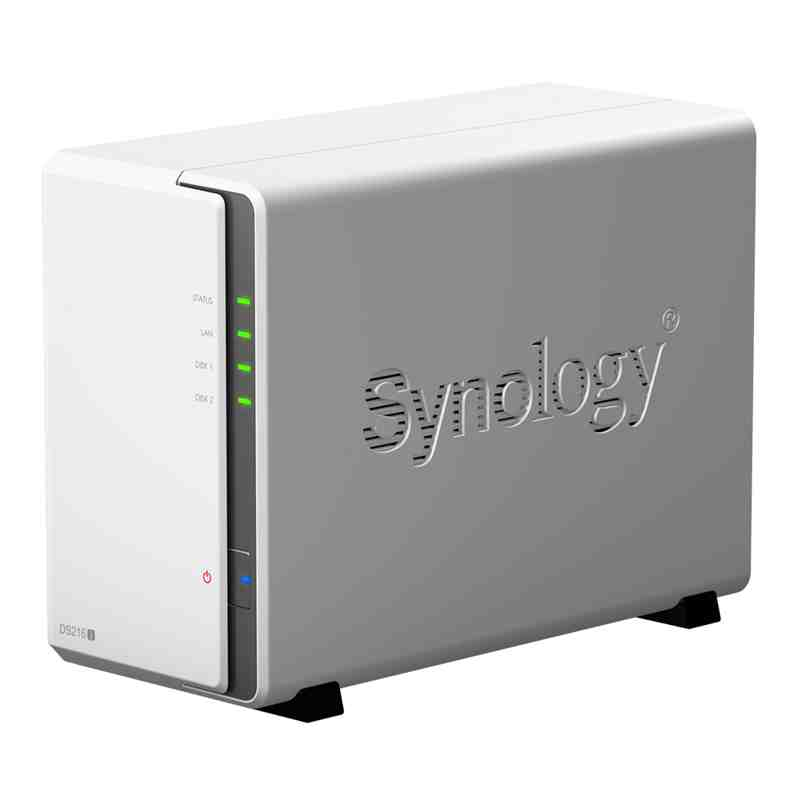 Synology Disk Station DS216j NAS server 2 bays SATA 6Gb / s RAID 0, 1, JBOD  Gigabit Ethernet iSCSI