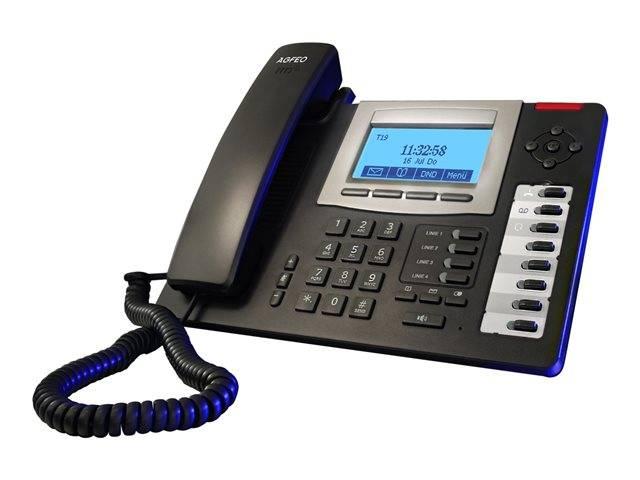 AGFEO T 19 SIP / VoIP phone / SIP / multiline / black | 6101435