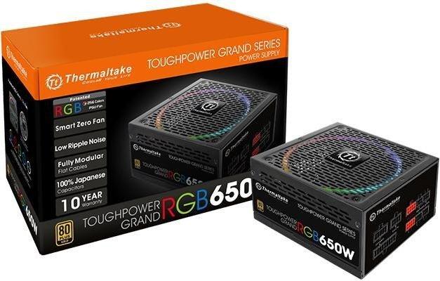 Thermaltake ToughPower Grand RGB TPG-650AH3FSG-R / Power supply (internal)  / ATX12V 2 4/ EPS12V 2 92 / 80 PLUS Gold / AC 100-240 V / 650 Watt / active