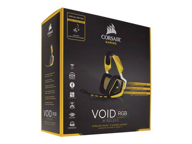 Corsair Gaming VOID PRO RGB / Special Edition Yellowjacket / headset / full  size / wireless / 2 4 GHz / yellow | CA-9011150-EU
