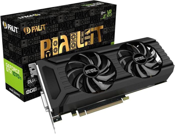Palit GeForce GTX 1070 Ti Dual, 8GB GDDR5, DVI, HDMI, 3x DisplayPort