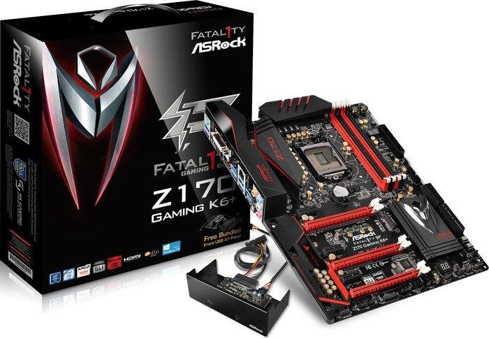 ASRock Fatal1ty Z170 Gaming K6+ / Motherboard / ATX / LGA1151 Socket / Z170  / USB 3 0, USB 3 1, USB-C / Gigabit LAN / onboard graphics (CPU required)