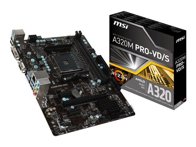 Msi A320m Pro Vds Motherboard Micro Atx Socket 7a36 005r