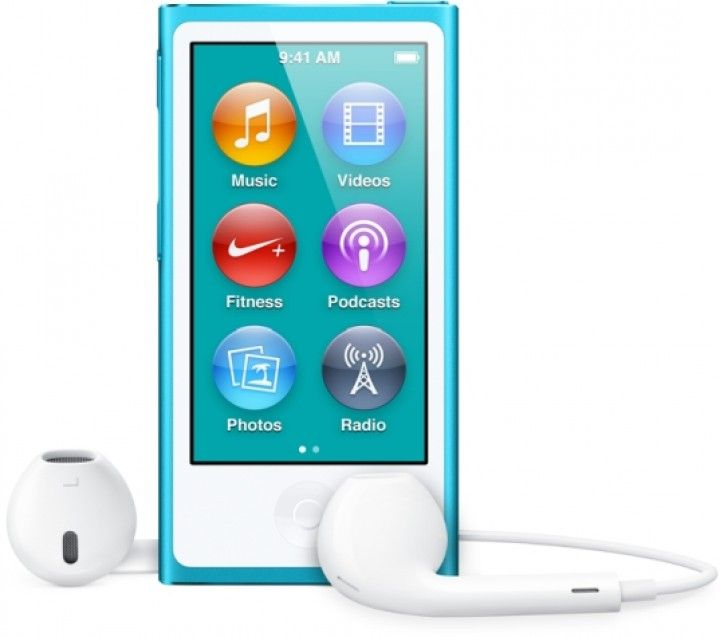 Apple iPod nano 7th Generation Blue Mp3 Mp4 Player Touch screen 16 GB